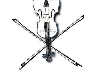 Fiddle and Cross Bows Sticker