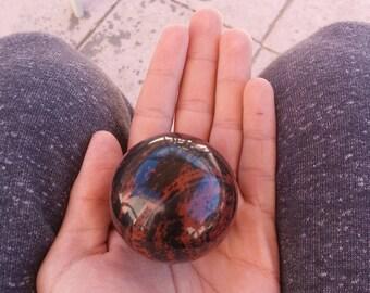 Mahogany Obsidian Sphere