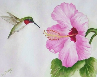 Hummer and Hibiscus