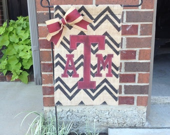 Texas A&M Burlap Garden Flag