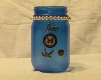 Blue Paris Jar