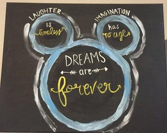 Disney Quote Canvas