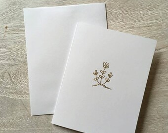 Gold lavender card (five count)