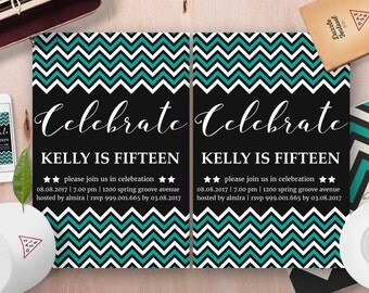 Retro Styles Birthday Invitation Template, Birthday party invitations,children birthday party invitations,kids birthday party invitations