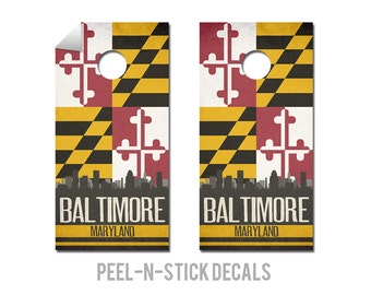 Baltimore State Flag Skyline Decals