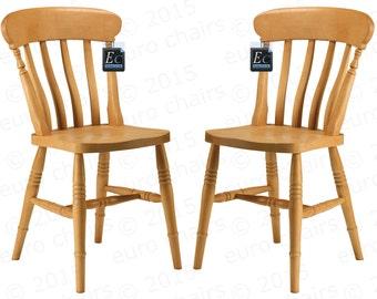 Farmhouse Slat-Back Chair: