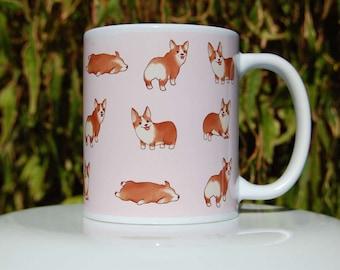 Welsh Corgi Pattern Mug - Corgi Mug - Puppy Mug - Dog Mug - Corgi Gift - Corgi Lovers Gift