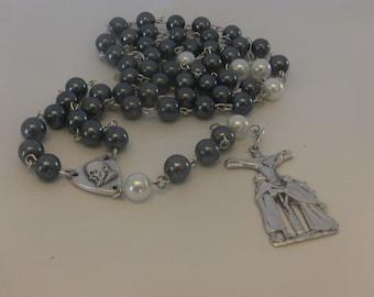 Onyx Pearl Rosary