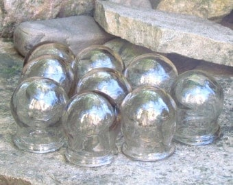 Vintage Cupping Glass soviet medical glass cups Medical instruments Body Massage Apothecary Jars Cups Vintage jars massage Cupping Cup