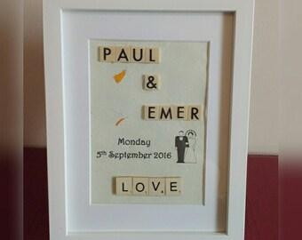 Wedding/Engagement scrabble