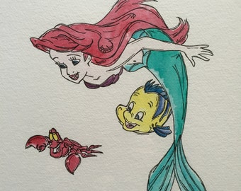 The Little Mermaid Original Illustration