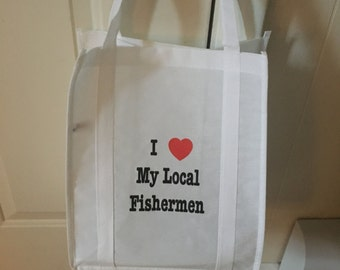 I love my local fisherman farmers market bag