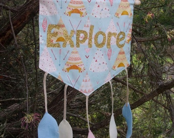 Cubby House Banner - 'Explore' by Noble Cubs