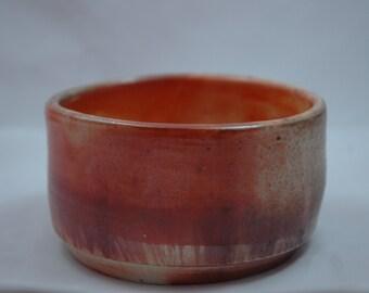 shino teabowl, woodfired
