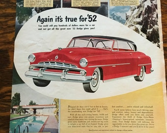 1952 Dodge Ad from 1952 Better Homes & Gardens magazine