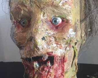 Custom Zombie Prop Head