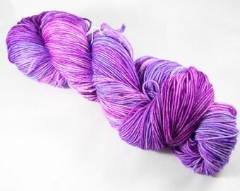 """Chic Sock Yarn- """"Hydrangea"""" Handpainted Superwash Merino - 463 Yards"""
