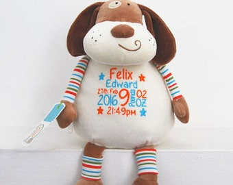 Personalised New Baby Pastel Soft Toy