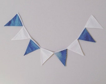 Denim and Eyelet Triangle Bunting
