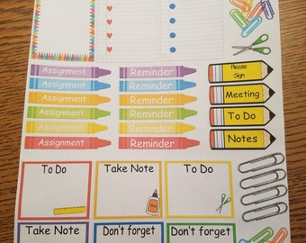 School theme planner stickers