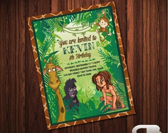 Tarzan Invitation - Tarzan Invite - Tarzan Birthday Invitation - Tarzan Birthday Party - Digital File Download