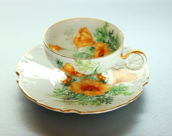 Vintage china tea cup and saucer porcelain