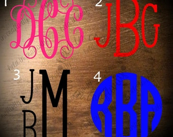 3 inch Monogram decal