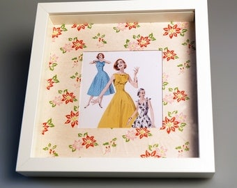 Vintage Style deep Framed Picture Box