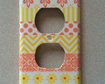 Yellow/Coral Outlet Cover