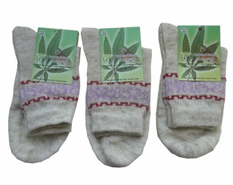 Natural Hemp Socks for Women, 3, 5 or 10 pairs, AGRO-HANF Ukraine ORGANIC, Vegan