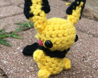 Pichu amigurumi crochet pokemon go baby pikachu evolution stuffed animal toy plushie plush chibi