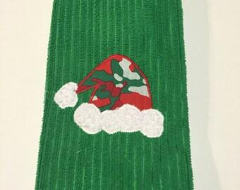 Demo Sale * Santa Hat Applique Hand Towel