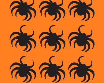 9 Spider Decals, 9 Spider Stickers, Spider Decals, Spider Stickers