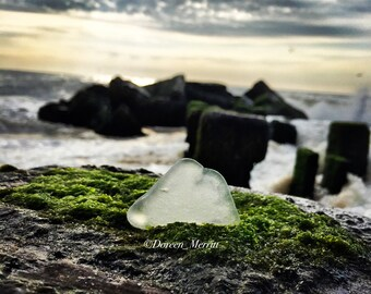 Sea Glass Photo~Sunrise Waves
