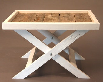 Stylish tray table as a side table for living room or balcony