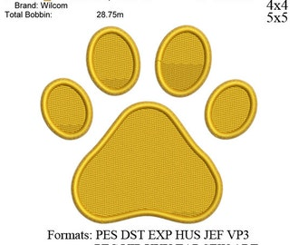 Paw print embroidery machine 2 . embroidery pattern . embroidery designs