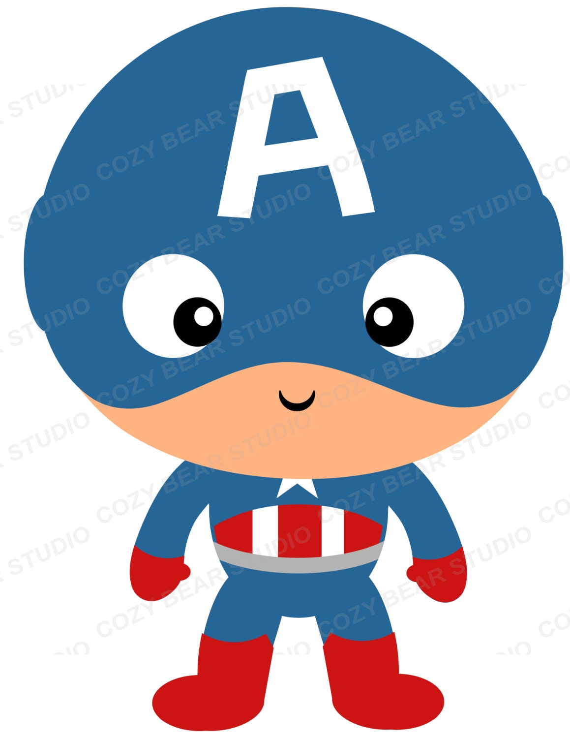 Superhero Clipart Captain America Hulk Punisher Thor