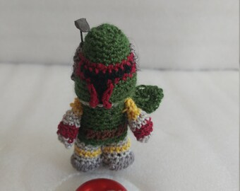 Mini Boba Fett Star Wars Crochet