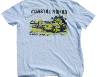 Mens Coastal Nomad VW Thing paddle board T-shirt Wander on Water