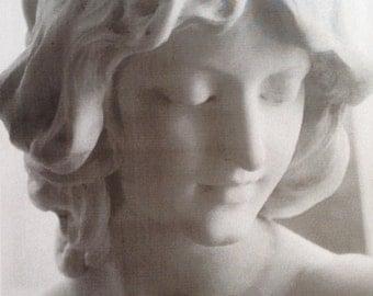 Marble bust by F. Vichi, Italian sculptor