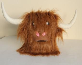 Stuffed Animal Toy, Yakoo the Yak, Furry Plushie, Large 30cm, Soft Toy, Monster