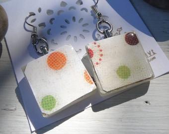 Glass Tile Earrings