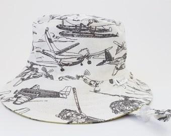 kids summer hat,boys bucket hat,baby sun protection,boys beach hat,airplane sun hat,boys birthday gift,kids sun hats,wide brim hat,sunhats