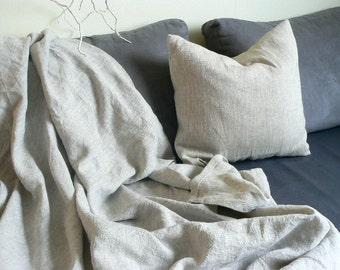 Square linen pillow cover, pure 100% natural linen, Euro cushion cover, natural Eco linen fabric, 16 x16, 18x18, 20x20, 22x22, Shuma Linen