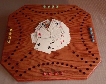 Tock/Tuck Handcrafted 4 Person Game Board (Gun Stock Finish)