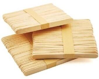 """Flat Natural Wooden Lollipop Sticks 4.5"""" (114mm)"""