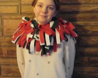 Fun holiday fleece scarf
