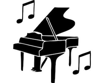 Piano Vinyl Decal