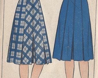 "1940s Vintage Sewing Pattern SKIRT WAIST:26"" (R609) Economy Design 159"