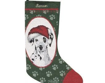 Dalmatian Dog Personalized Christmas Stocking